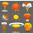 explosion boom effect set vector image