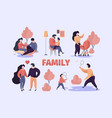 family couples stylized happy characters parents vector image vector image