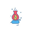 fire icon design vector image