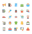 flat icons set of shopping and commerce vector image vector image