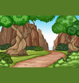 flat road in nature vector image