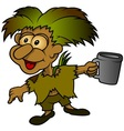 Forest Elf Holding Cup vector image vector image