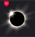 full eclipse vector image vector image
