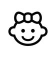 Girl Baby Face Icon Logo vector image vector image