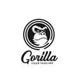 gorilla logo design template idea vector image vector image