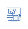 great choice line icon concept great choice flat vector image vector image