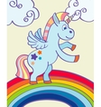 hand drawn unicorn rainbow vector image vector image