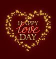 happy love day golden and gradient luminous vector image