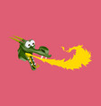 head of cartoon dragon with fire from his mouse vector image vector image