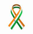 indian flag stripe ribbon on white background vector image vector image