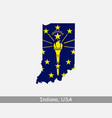 indiana usa map flag vector image vector image