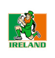 ireland rugby flag vector image vector image