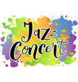 jazz concert in black on colorful background vector image