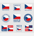 made in czech republic icon set product labels of vector image vector image