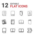 magazine icons vector image vector image