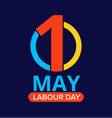 may 1st labour day celebration background vector image vector image