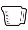measuring cup icon vector image