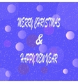 Merry christmas and happy new year with bubbles vector image