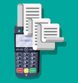 modern pos terminal bank payment device vector image vector image