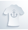 modern t-shirt on gray background vector image vector image
