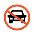no cars road and traffic jam symbol and sign vector image vector image
