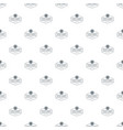 nut and seed emblem pattern seamless vector image vector image
