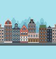 old town background seamless urban landscape with vector image vector image