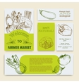 Organic food concept brochure and flyer template vector image