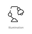 outline illumination icon isolated black simple vector image vector image