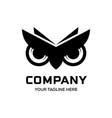 owl eyes logo designs vector image vector image