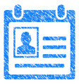 person cardfile grunge icon vector image