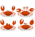 red crabs characters vector image vector image