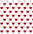 Red heart pattern with transparent background vector image vector image