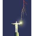 Redeemer statue in Brazil vector image vector image
