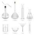 science chemical lab equipment a set of science vector image vector image