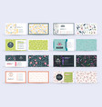 set double-sided horizontal business card vector image