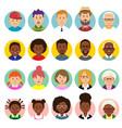 set human faces avatars people heads vector image