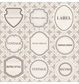 Set of vintage retro labels templates vector image vector image