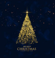 shiny glitter sparkles creative christmas tree vector image vector image