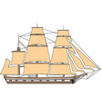 ship isolated on white background a commercial vector image vector image