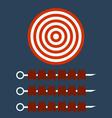 Shish kebab on skewers Target concept vector image vector image
