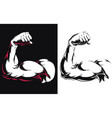 silhouette arm bicep muscle flexing bodybuilding vector image vector image