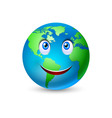 Smiling planet earth vector image
