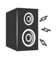 speaker sound music vector image