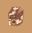 spotted chocolate milk carton vector image