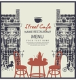 street cafe with table vector image vector image