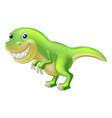t rex cartoon dinosaur vector image vector image