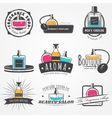 The Fragrance Shop set Exclusive boutique with vector image vector image