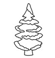 tree pine with snow vector image vector image
