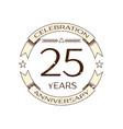 twenty five years anniversary celebration logo vector image vector image
